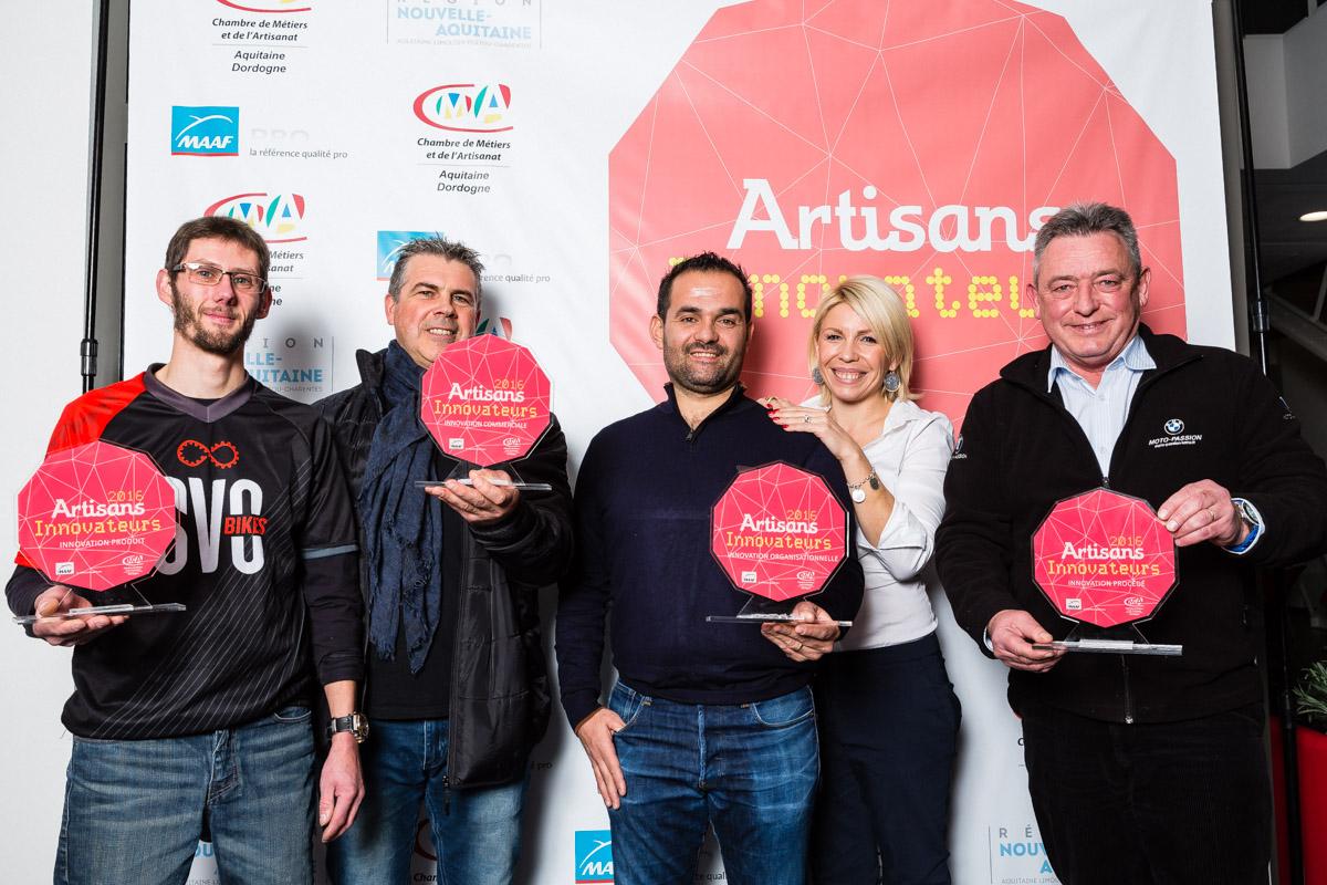 L'équipe vainqueur du trophée Artisans Innovateurs